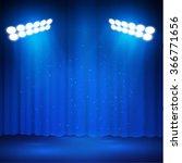 curtains spotlight stage... | Shutterstock .eps vector #366771656