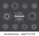 vintage hand drawn sunbursts... | Shutterstock .eps vector #366771719