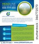 vector brochure  flyer ... | Shutterstock .eps vector #366772070