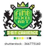 fine pixel art label with...