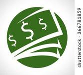 money vector illustration  | Shutterstock .eps vector #366781859