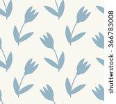 seamless vector flower pattern | Shutterstock .eps vector #366783008
