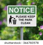 a modified notice sign at the... | Shutterstock . vector #366783578