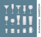 set of different alcohol empty... | Shutterstock .eps vector #366800144