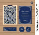 wedding invitation or greeting... | Shutterstock .eps vector #366800189