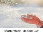 Flying Snowflakes. Blowing Snow ...