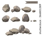 rocks and stones single or... | Shutterstock .eps vector #366801389