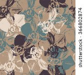 floral seamless pattern with... | Shutterstock .eps vector #366802874