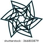 ornate vector hexagonal black... | Shutterstock .eps vector #366803879