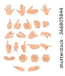 illustration of different hand... | Shutterstock .eps vector #366805844