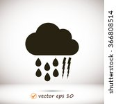 weather  cloud icon | Shutterstock .eps vector #366808514