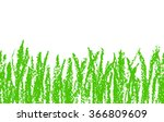 wax crayon hand drawn green...   Shutterstock .eps vector #366809609