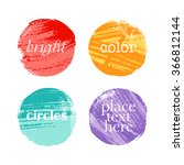 grunge hand drawn colorful... | Shutterstock .eps vector #366812144