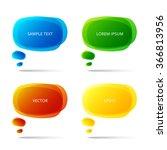 set of vector colorful speech... | Shutterstock .eps vector #366813956