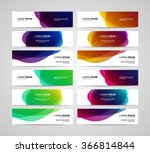 set of vector banners design... | Shutterstock .eps vector #366814844