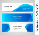set of vector banners design... | Shutterstock .eps vector #366814913