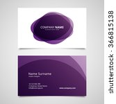 vector abstract business card... | Shutterstock .eps vector #366815138