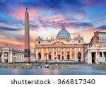 vatican  rome  st. peter's... | Shutterstock . vector #366817340