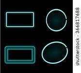 neon frames. glowing frames.... | Shutterstock .eps vector #366817688