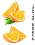 isolated orange wedges.... | Shutterstock . vector #366818480