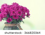 Beautiful Flowers In Vase On...