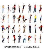 isolated over white business... | Shutterstock . vector #366825818