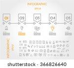 linear infographic timeline... | Shutterstock .eps vector #366826640