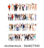 united colleagues teams over...   Shutterstock . vector #366827540