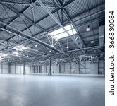 interior of empty warehouse | Shutterstock . vector #366830084