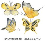 watercolor gold color... | Shutterstock . vector #366831740