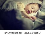 cute little boy in yellow... | Shutterstock . vector #366834050