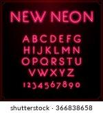 neon font type alphabet....   Shutterstock .eps vector #366838658