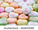 colorful conversation heart... | Shutterstock . vector #366843080