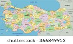 turkey   highly detailed... | Shutterstock .eps vector #366849953