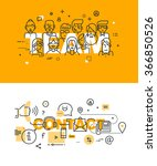 set of modern vector... | Shutterstock .eps vector #366850526