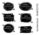 vector quote blank template.... | Shutterstock .eps vector #366851576