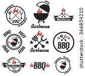 set of vintage design barbecue... | Shutterstock .eps vector #366854210