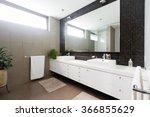 black mosaic tiled splashback... | Shutterstock . vector #366855629