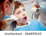 little boy at the dentist. calm ... | Shutterstock . vector #366859610