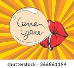 valentines day vintage... | Shutterstock .eps vector #366861194