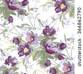 watercolor seamless... | Shutterstock . vector #366862790