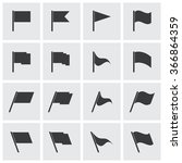 vector set of flags. flag icons ... | Shutterstock .eps vector #366864359