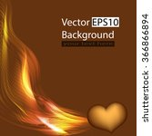background with heart and gold... | Shutterstock .eps vector #366866894