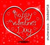 happy valentine's day... | Shutterstock .eps vector #366866918