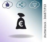 money bag vector icon. euro