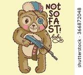 Vector Cartoon Angry Bear.