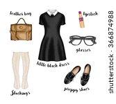 watercolor fashion illustration.... | Shutterstock . vector #366874988