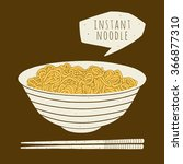 instant noodle in the bowl.... | Shutterstock .eps vector #366877310