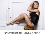 glamour shot of a sexy blonde... | Shutterstock . vector #366877544