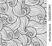 seamless pattern for coloring... | Shutterstock .eps vector #366881090